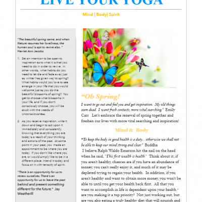 April 2017 Yoga Newsletter