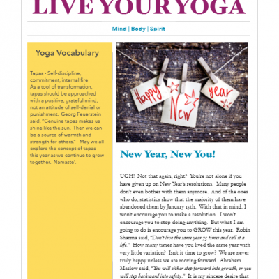 January 2017 Yoga Newsletter