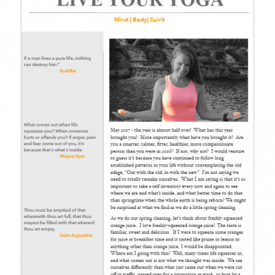 May 2017 Yoga Newsletter