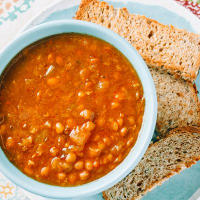 Lori's Lentil Soup (Instant Pot Recipe)
