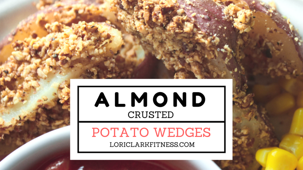 Almond Crusted Potato Wedges