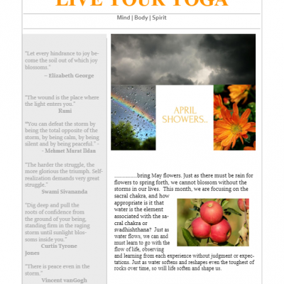 April 2018 Yoga Newsletter