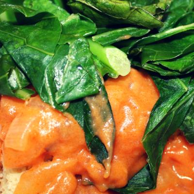 Delicious Southern Cornbread & Greens with Tomato Gravy