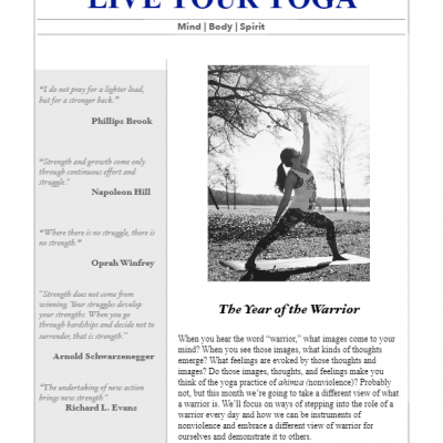 January 2018 Yoga Newsletter