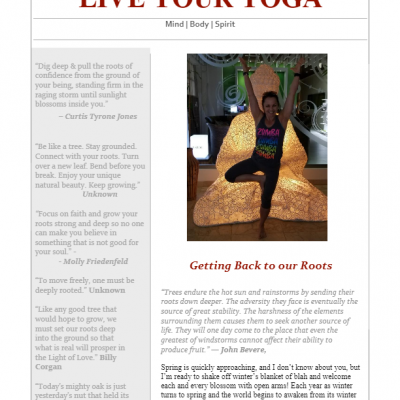 March 2018 Yoga Newsletter