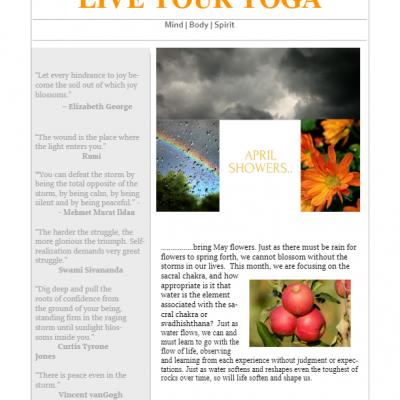 April 2018 Yoga Newsletter