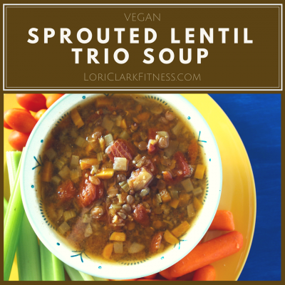 Sprouted Lentil Trio Soup
